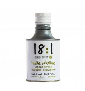 Huile d'olive 18:1 Alexis Munoz Fruits Verts Première Récolte 25cl